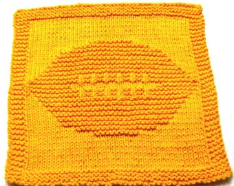 Large Knitting Cloth Patterns -   Football  - PDF