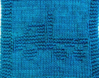 Knitting Cloth Pattern - FLATBED TRUCK - PDF