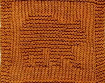 Knitting Cloth Pattern - BEAR CUB - PDF