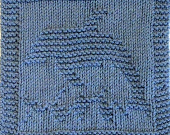 Knitting Cloth Pattern - DOLPHIN - PDF