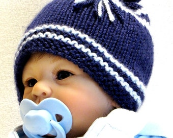 KNITTING PATTERN, Newborn - EZ Knit Baby Hat Pattern - Great as a Photo Prop - Permission to sell hats