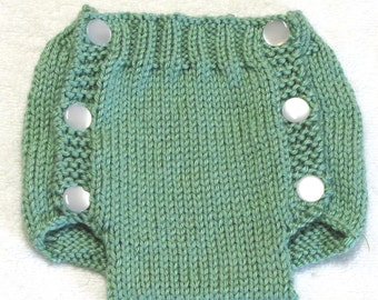 Diaper Cover Knitting Pattern - PDF - Medium - 3  to 6 Months