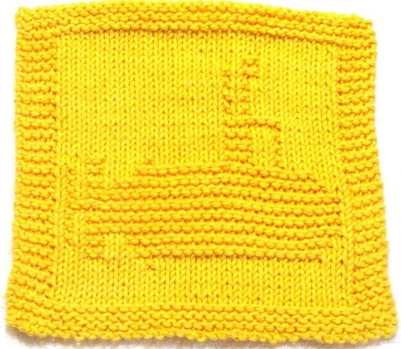 Knitted Tablecloth Patterns : Knitting Cloth Pattern YELLOW SUBMARINE PDF by ezcareknits