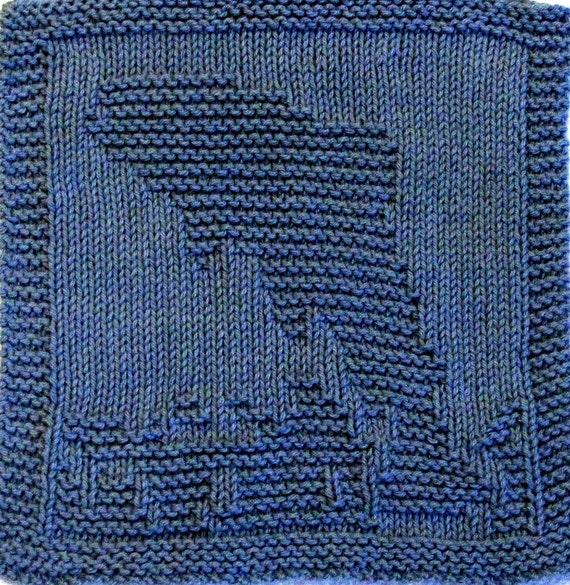 Large Knitting Cloth Pattern - TROUT JUMPING - PDF