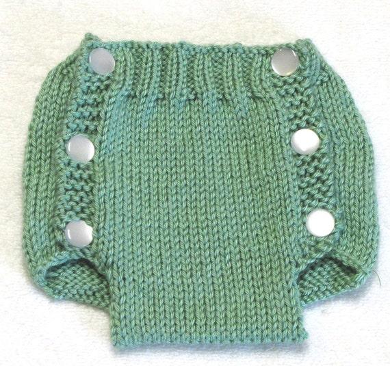 Diaper Cover Knitting Pattern - PDF - Medium - 3  to 6 Months