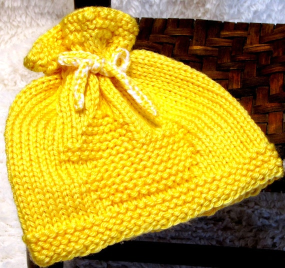 Baby Duck Hat Knitting Pattern : Knitting Pattern Newborn RUBBER DUCK EZ Knit Baby Hat