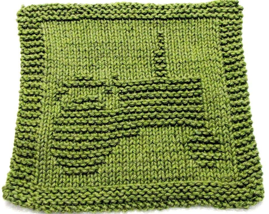 Knitting Pattern With Tractor Motif : Knitting Cloth Pattern TRACTOR PDF