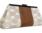 Clutch Purse - Brown and White Leaves (Limited Edition)
