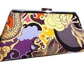 Clutch Purse - Purple Grey and Orange Tatsu (Limited Edition)