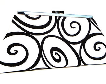 Clutch Purse - White and Black Ironworks