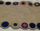 Felted Wool Penny Rug table runner for Harvest Table