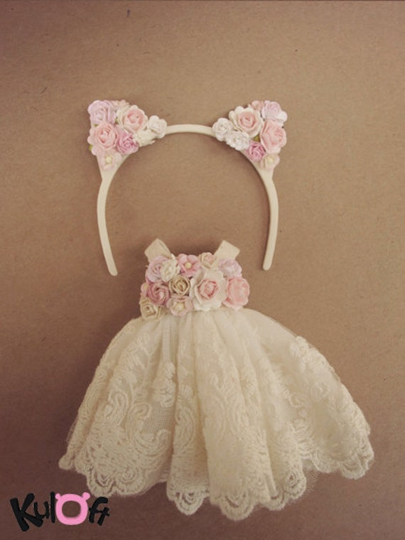 Sweet kitten dress  Set