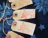 5 Small Primitive Elf Surprise Hang Tags No Charge Shipping