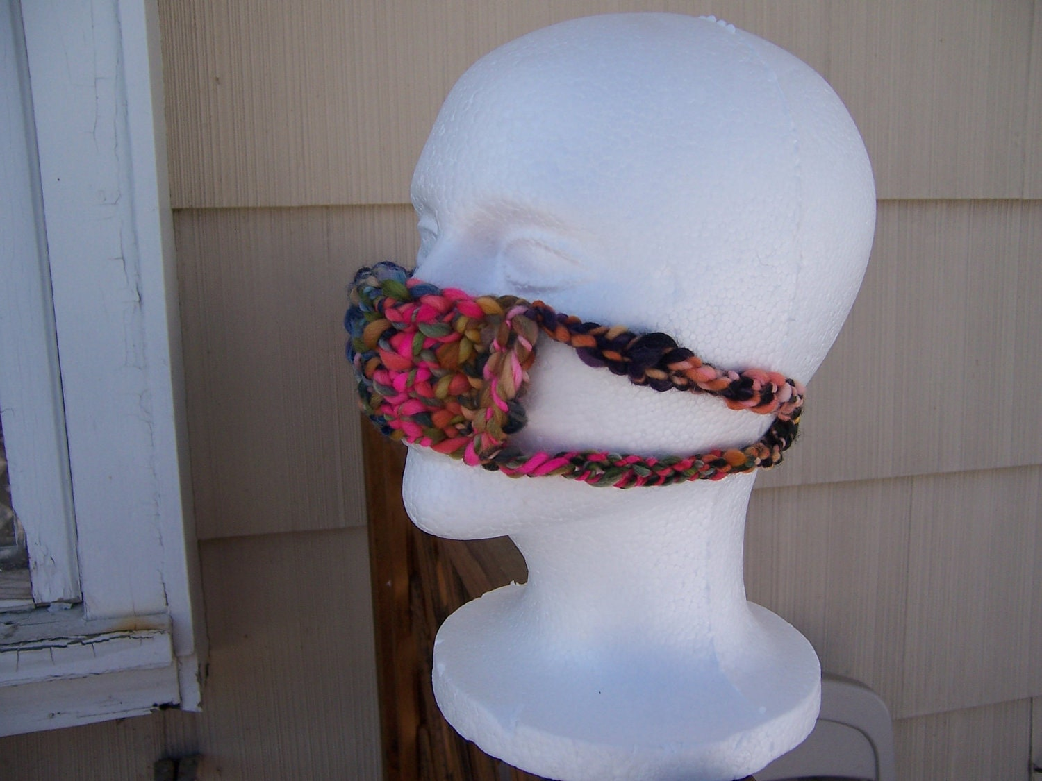 Crochet Nose Warmer : Knitted Nose Warmer Nosewarmer Litterbox Odor Nose by TangoBrat