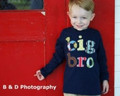 Big Bro Shirt / Big Brother Shirt -Perfect for Family Pictures, Pregnancy Announcement, Baby Shower - Choose Shirt Color and Sleeve Length