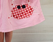 Toddler Summer Dress - Crab Applique Dress- Personalized Dress- You Choose Dress Color and Sleeve Length