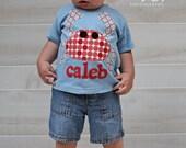 Crab Shirt - Summer TShirt - Beach Shirt -  You Choose Shirt Color, Sleeve Length, Letter Colors