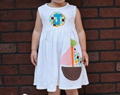 Sailboat Dress - Summer Dress- Personalized Dress- You Choose Dress Color and Sleeve Length