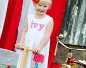 Birthday Dress - Personalized Birthday Applique Dress- Personalized Dress- You Choose Dress Color and Sleeve Length