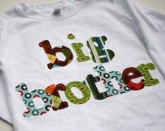 Big Brother Shirt, Big Bro Shirt, Sibling Shirt, Big Brother T-Shirt, Big Little Shirts -  Choose Shirt Color and Sleeve Length