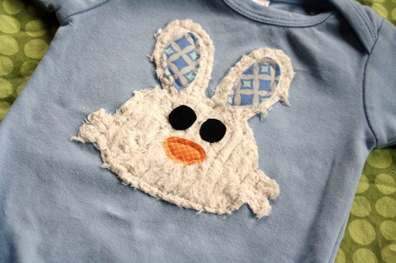 Bunny Shirt Bunny Applique - You choose shirt color and sleeve length