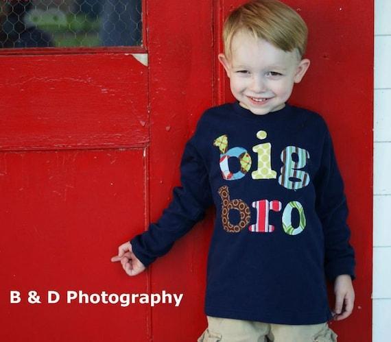 Big Bro Shirt, Big Brother Shirt, Big Brother T Shirt, Big Bro, Sibling Shirt - Choose Shirt Color and Sleeve Length
