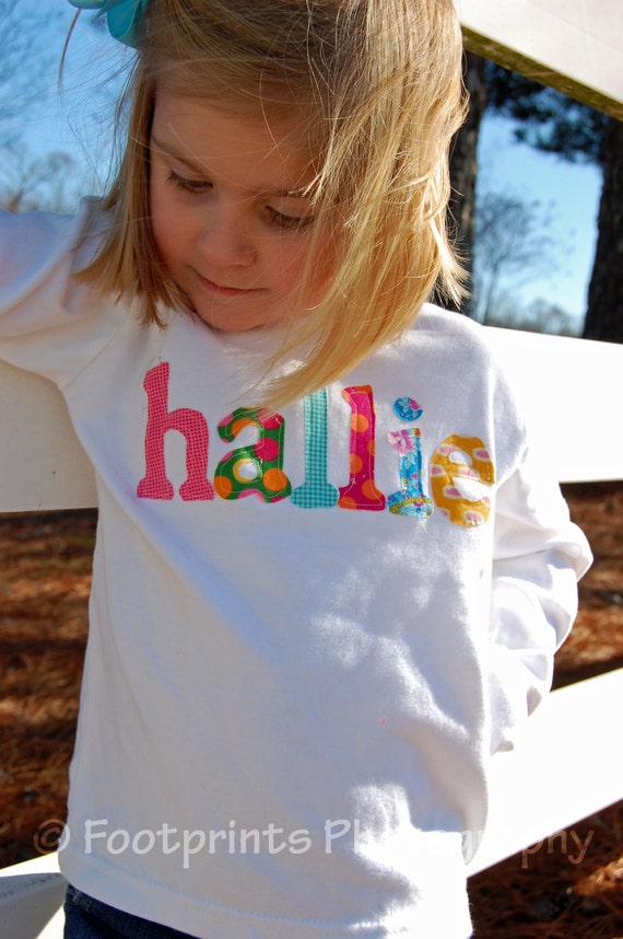 Personalized Name Shirt or One-Piece- You Choose Color and Sleeve Length