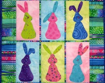 Bunny Quilt ePattern, 4385-1, bunny wall quilt, easter wall hanging, easter quilt pattern, digital download