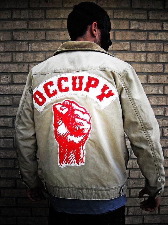 Occupy Wallstreet Khaki Street Jacket