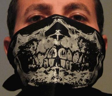 Glow In The Dark Skull Face Mask Bandana Rave Airsoft