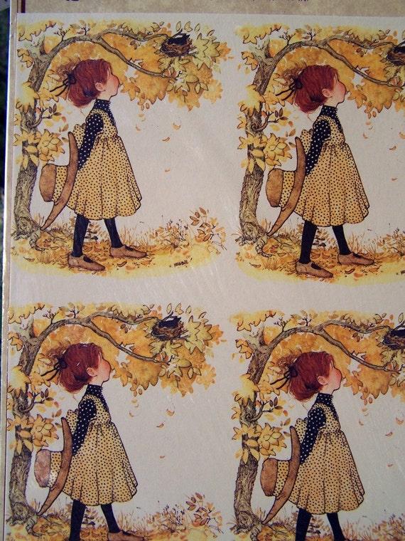 Vintage Holly Hobbie Print American Greetings NOS