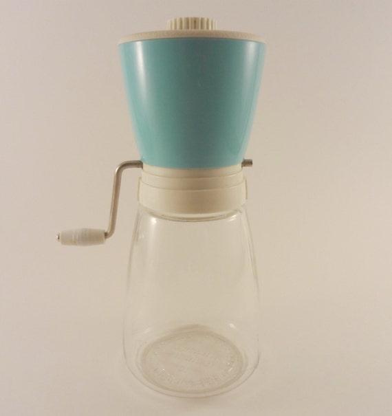 Vintage 1960s Nut Grinder in Turquoise, Federal Housewares