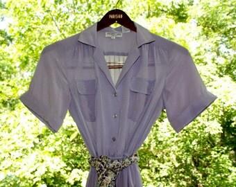 Vintage Lavender Dress - 1980s - Excellent Condition