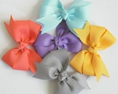You Choose - 3 Pinwheel Bows - 33 Color Choices - Pinwheel Hair Bows - Pinwheel Hair Clips - Toddler Bows - No Slip Grip Bows - Hair bows