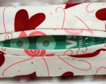 Hearts Pocket Size Tissue Case Holder Cozy Cover