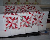 SALE! Red's and Whites 12 Block Quilt Top Only