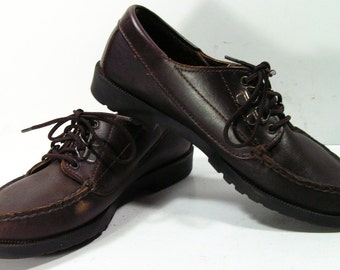 dexter shoes womens 6 M B brown vintage granny leather grunge