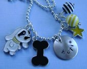 Hand Stamped Custom MY PUPPY Necklace for Children