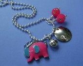 Hand Stamped Custom MY LITTLE ELEPHANT Necklace for Children