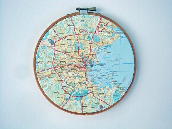 Boston Map Stitched