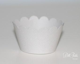 MINI Light Gray Cupcake Wrappers - MINI Cupcake Wraps Set of 25