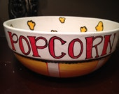 Hand Painted Personalized Popcorn Bowl