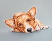Corgi dog art print - Ltd. Ed Collectable