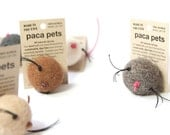 Paca PETS  x3  All Natural All Alpaca Cat Toy with leather tail
