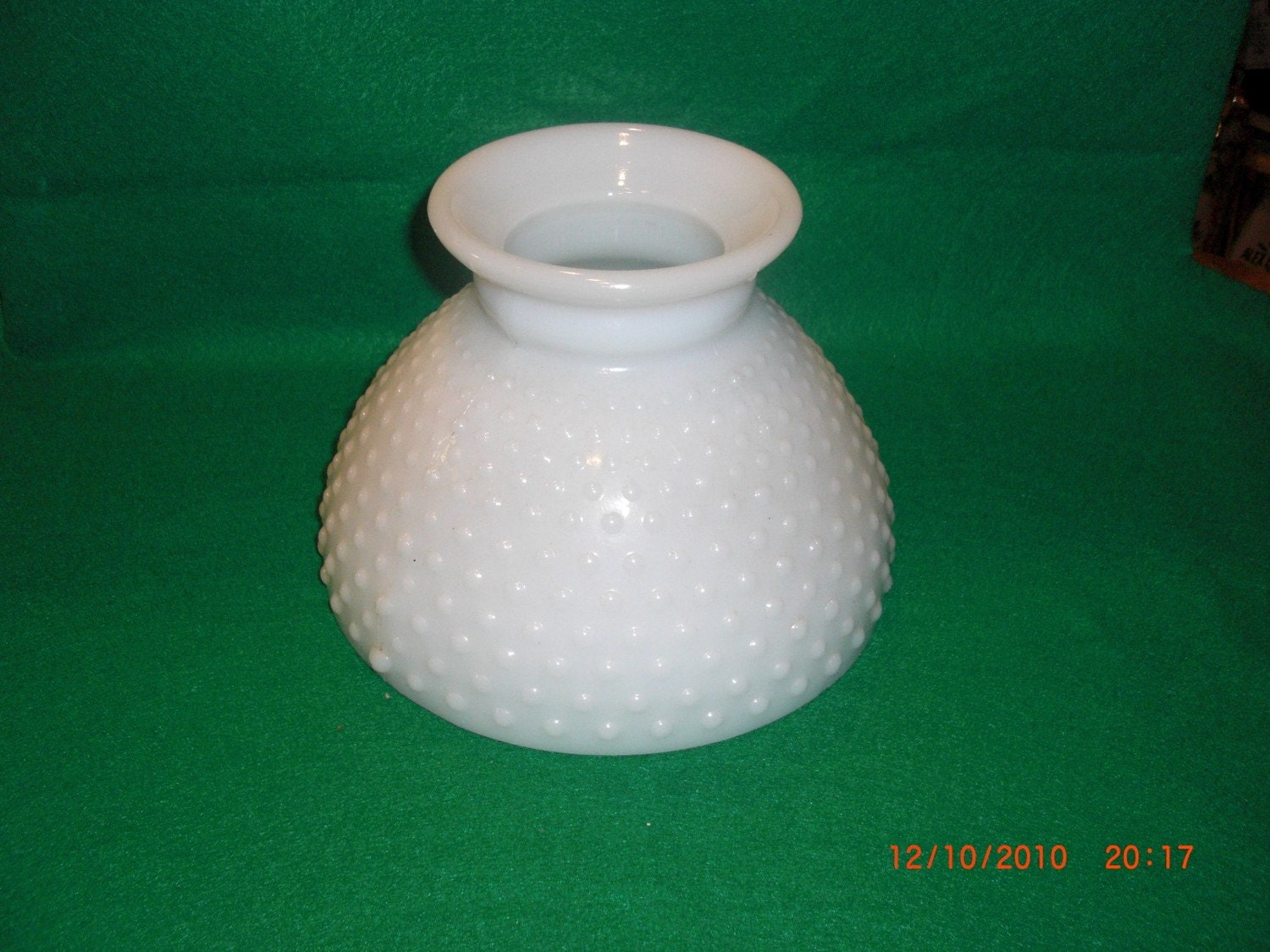 vintage milk glass white hobnail lamp shade globe 8 inches