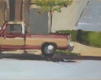 Truck Original Oil Painting