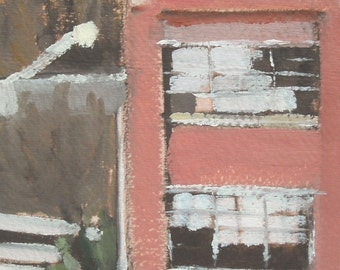 Baltimore Citscape MICA's Fox Building Original Oil Painting