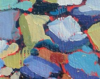 Small Sorrento Rocks Ocean Original Oil Painting