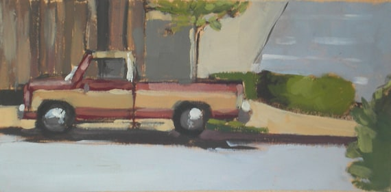 Truck Original Oil Painting