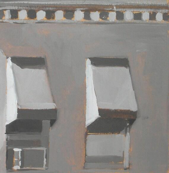 Baltimore Row Houses Windows Original Oil Painting